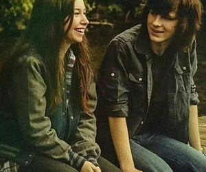 enid, carl grimes, and the walking dead image