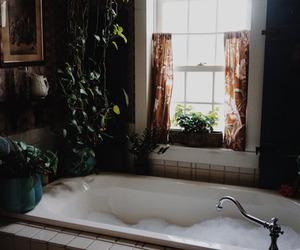 bath, vintage, and bathroom image