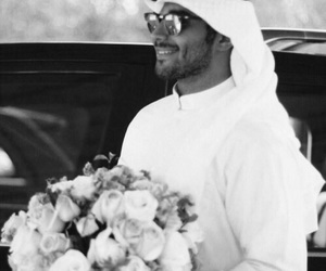 flowers, عربي, and man image