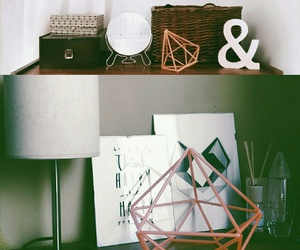 diy, geometric decor, and art ideas image