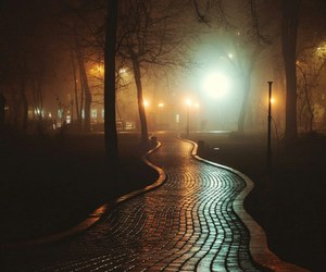 autumn, mysterious, and nights image