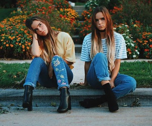 denim, fashion, and twins image