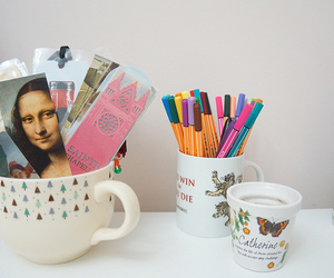 book, bookmark, and cup image