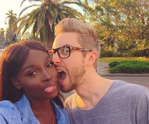 couple, interracial, and goals image