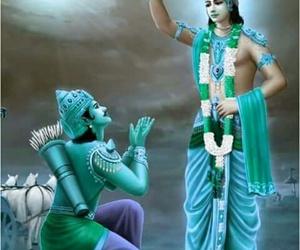 vishnu, arjuna, and bhagvat gita image