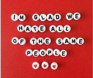 red, hate, and quotes image