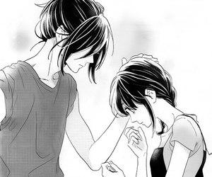 Manga Monochrome And Couple Image