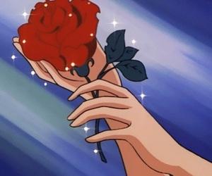 gif, rose, and anime image