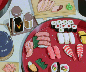 anime, sushi, and japan image
