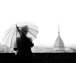 black and white, city, and italy image