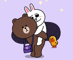 bear, brown, and bunny image