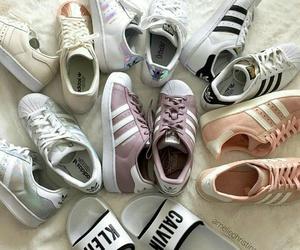 adidas, calvin, and shoes image