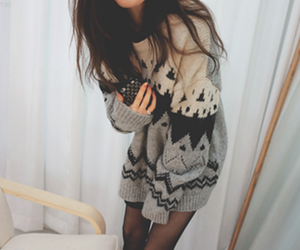sweater, cute, and xmas image