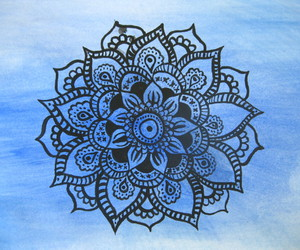 art, blue, and mandala image