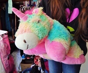 unicorn, tumblr, and pillow pet image