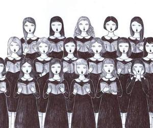 choir, girls, and music image