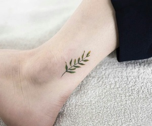tattoo, plants, and leaves image