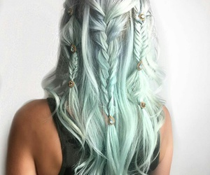 blonde, braid, and colorful hair image