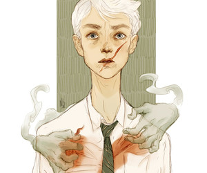 harry potter, draco malfoy, and sectumsempra image