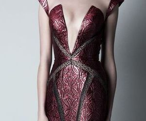 black, burgundy, and Couture image