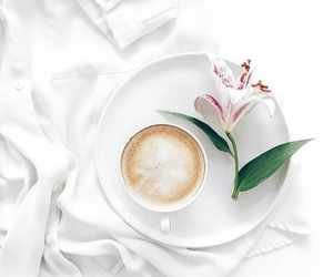 coffee, flowers, and cute image