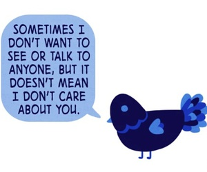 bird, mental health, and quote image