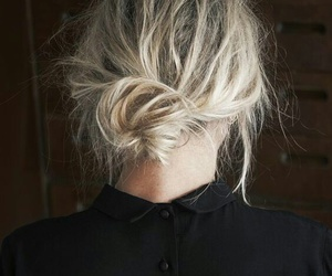 hair, hairstyle, and blonde image