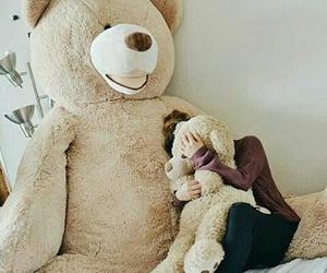 bear, girl, and big image