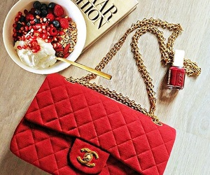 breakfast, chanel, and red image