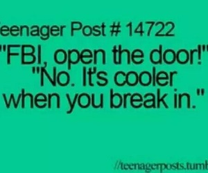 fbi, funny, and teenager post image