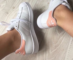 adidas, peach, and pink image