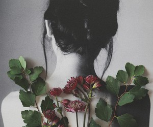 black and white, flowers, and gothic image