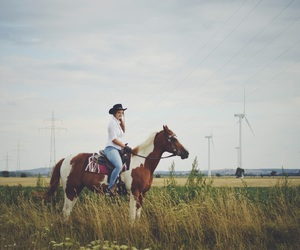 amazing, Cowgirl, and landscape image