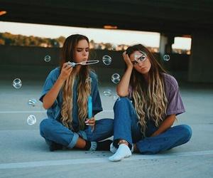 friends, friendship, and bubbles image