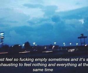 empty, quote, and sad image
