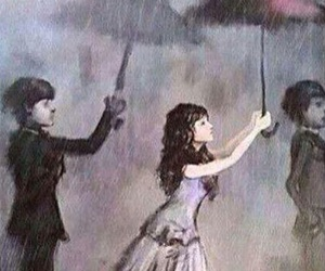 love, rain, and sad image