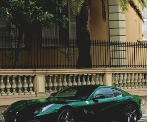 car, green, and luxury image