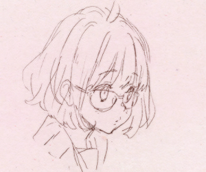 girl, kyoukai no kanata, and pastel image