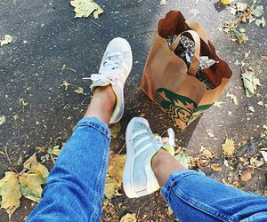jeans, adidas, and autumn image