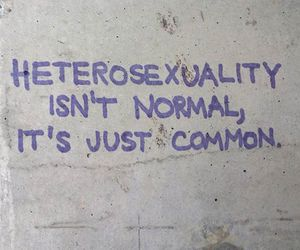 equality, heterosexual, and graffiti image