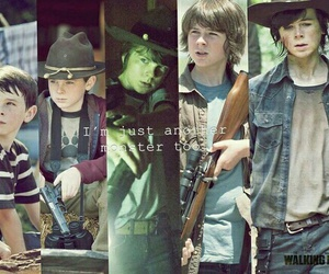the walking dead, carl, and chandler riggs image