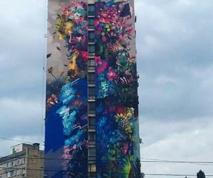 art, graffiti, and house image