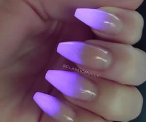 nails, neon, and purple image
