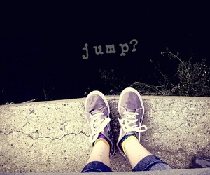 jump, cutting, and depressed image