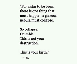 quotes, stars, and birth image