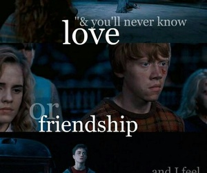 harry potter, friendship, and love image