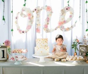 anniversary, baby, and cake image