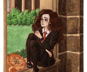 hermione granger, art, and hogwarts image