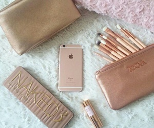 makeup, phone, and apple image