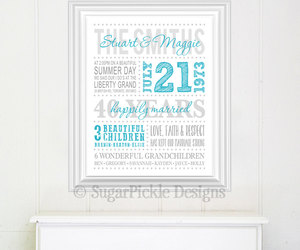 anniversary, typography art, and christmas gifts image